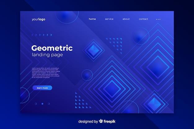 Modello di pagina di destinazione forme geometriche astratte Vettore gratuito