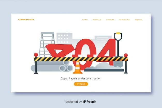 Modello di pagina di destinazione in costruzione Vettore gratuito