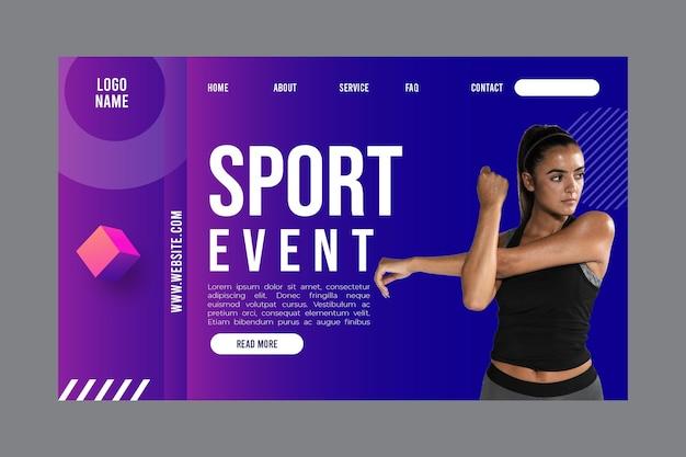 Modello di pagina di destinazione per attività di fitness Vettore gratuito