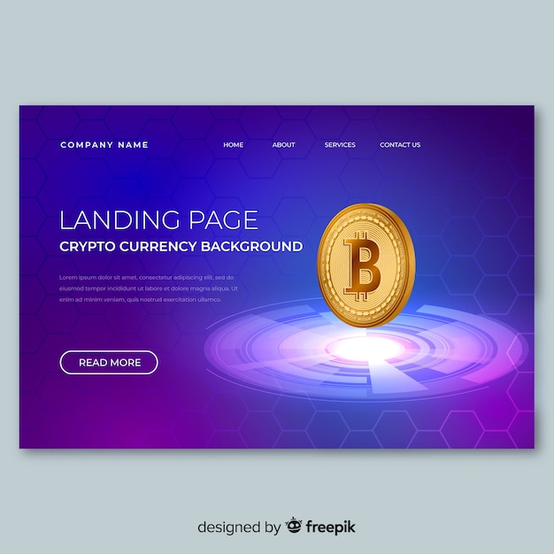 Modello di pagina di destinazione per lo scambio di criptovaluta Vettore gratuito