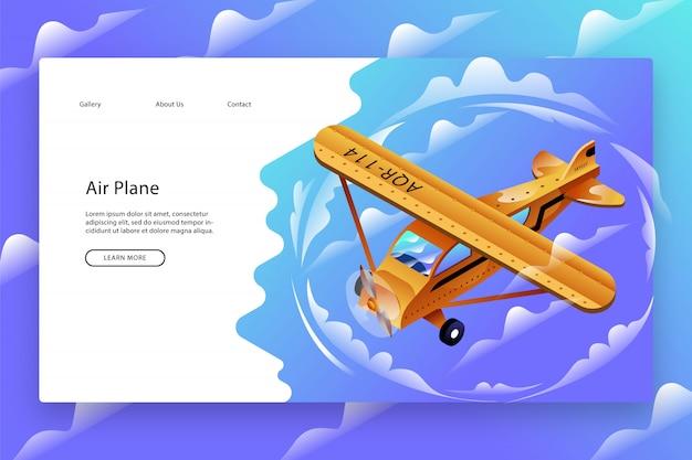 Modello di pagina web creativo Vettore Premium
