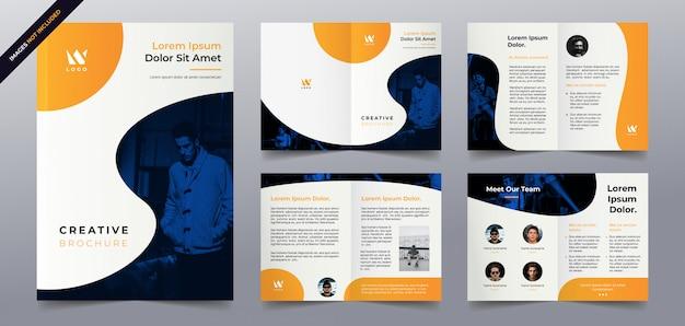 Modello di pagine brochure aziendale Vettore Premium