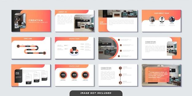 Modello di pagine di presentazione aziendale Vettore Premium