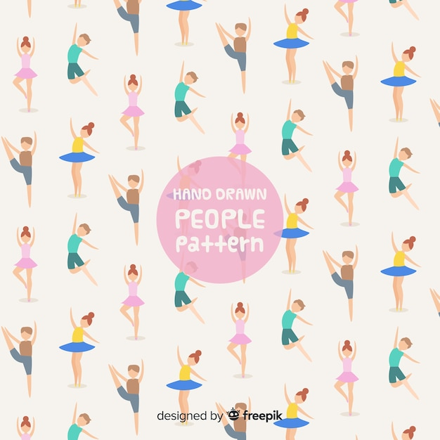 Modello di persone disegnate a mano Vettore gratuito