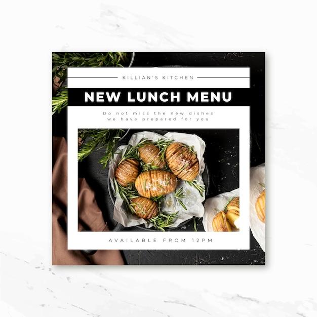 Modello di post di instagram alimentare Vettore gratuito