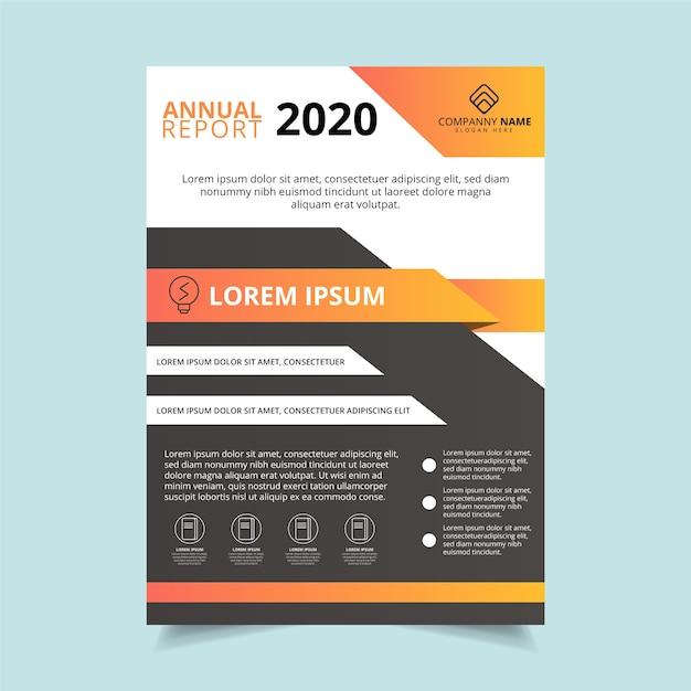 Modello di poster aziendale relazione annuale 2020 Vettore gratuito