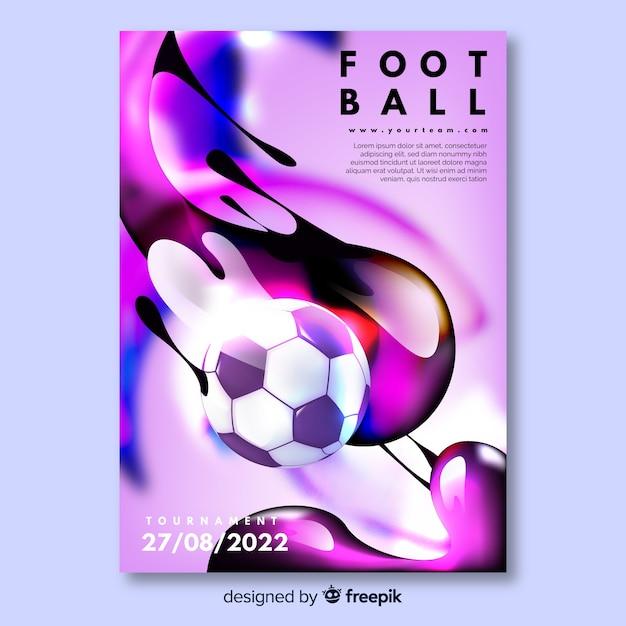 Modello di poster di calcio torneo Vettore gratuito