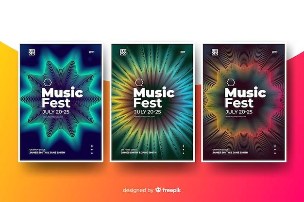 Modello di poster di musica astratta Vettore gratuito