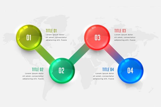 Modello di presentazione infografica di affari Vettore gratuito