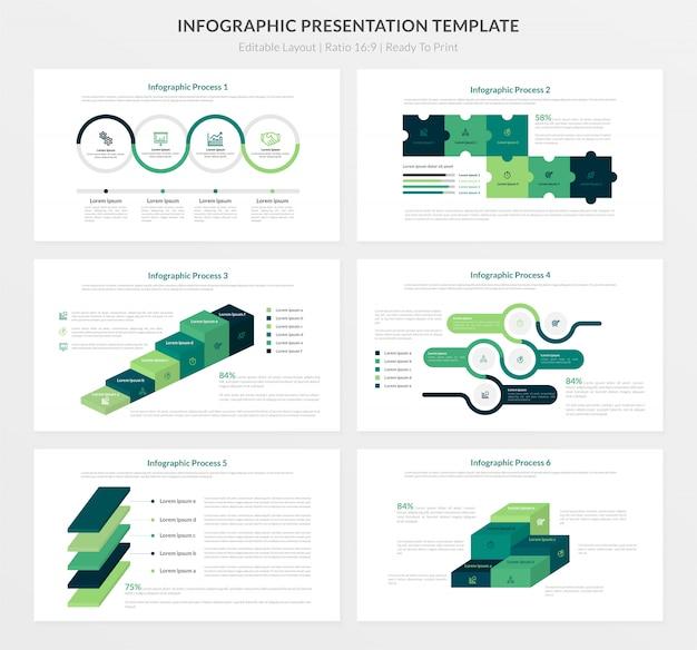 Modello di presentazione infografica Vettore Premium