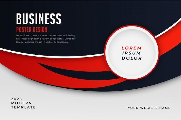 Modello di presentazione tema moderno stile business rosso Vettore gratuito
