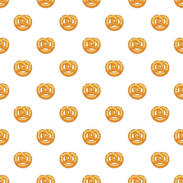 Modello di pretzel senza soluzione di continuità Vettore Premium