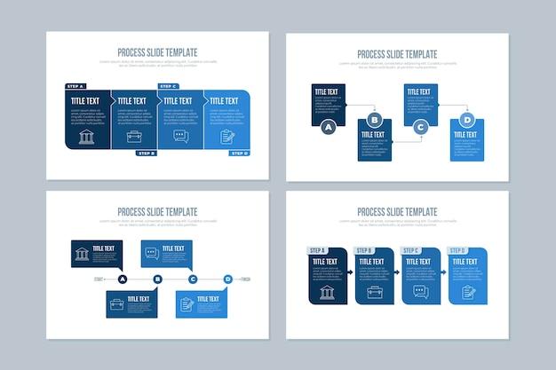 Modello di processo infografica Vettore gratuito