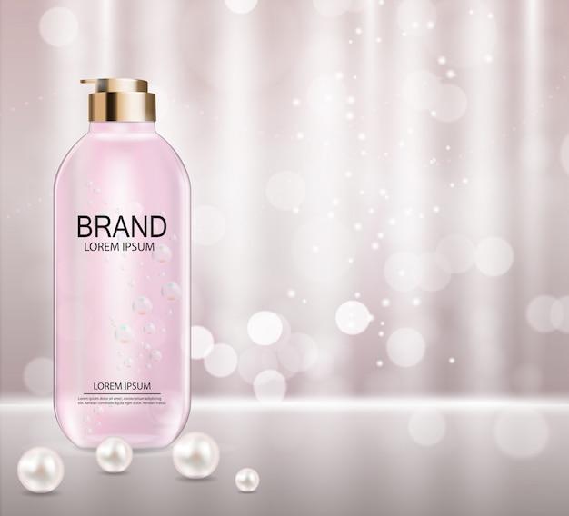Modello di prodotto di cosmetici Vettore Premium