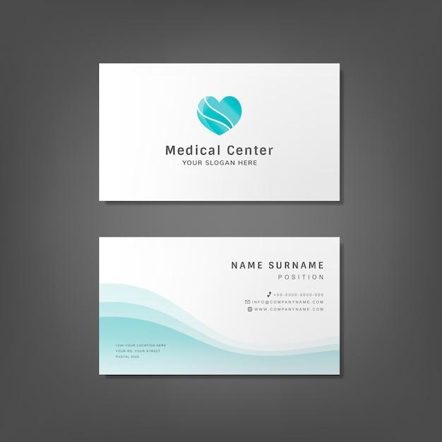 Modello di progettazione biglietto da visita professionale medica Vettore gratuito