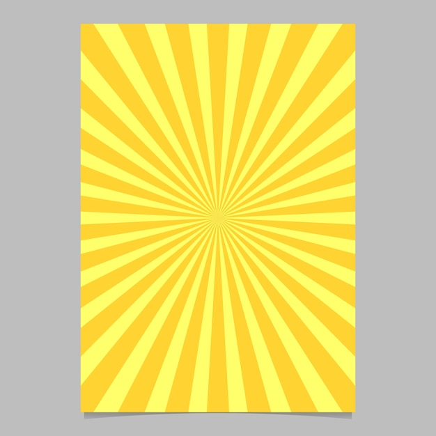 Modello di progettazione brochure astratto sunburst Vettore gratuito