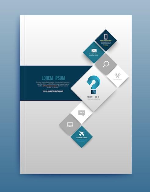 Modello di progettazione brochure vettoriale Vettore Premium