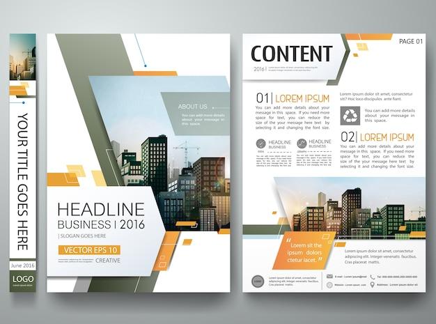 Modello di progettazione brochure. Vettore Premium