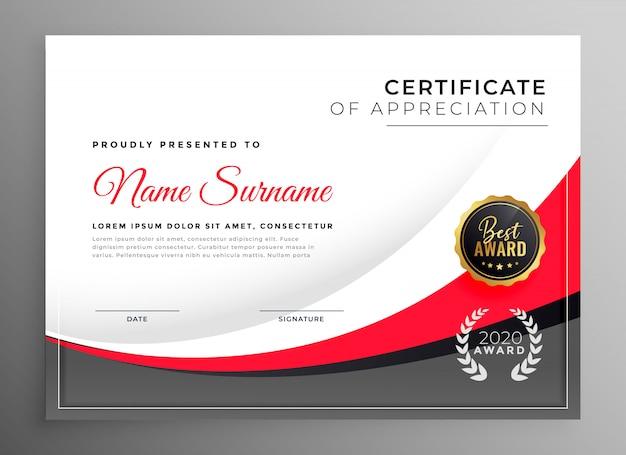 Modello di progettazione certificato di successo professionale Vettore gratuito