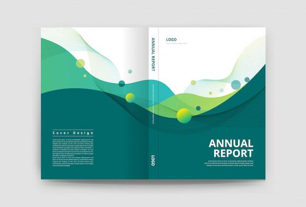Modello di progettazione copertina brochure Vettore Premium