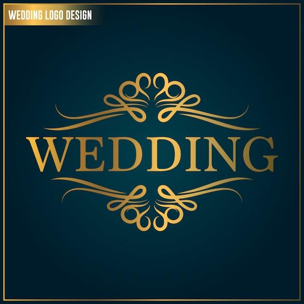 Modello di progettazione del logo di nozze. matrimonio logo vettoriale. modello di design elegante logo femminile Vettore Premium