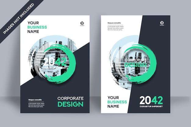 Modello di progettazione della copertina del libro aziendale in a4 Vettore Premium