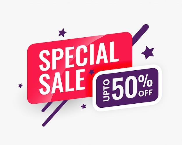 Modello di progettazione di banner astratto di vendita speciale Vettore gratuito