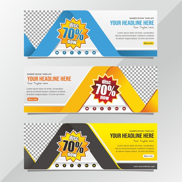 Modello di progettazione di banner vendita professionale Vettore Premium