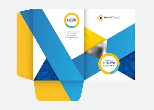 Modello di progettazione di cartelle di presentazione Vettore Premium