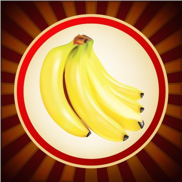 Modello di progettazione di layout di frutta banana Vettore Premium