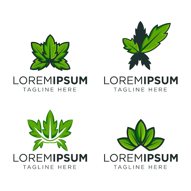 Modello di progettazione di logo foglia Vettore Premium
