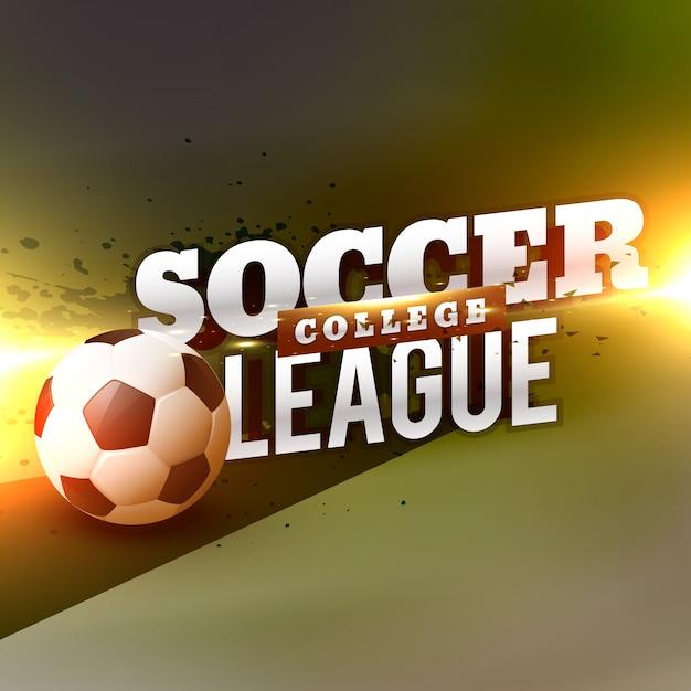 Modello di progettazione di sfondo di calcio di calcio di calcio Vettore gratuito