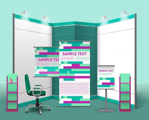 Modello di progettazione di stand espositivi Vettore gratuito