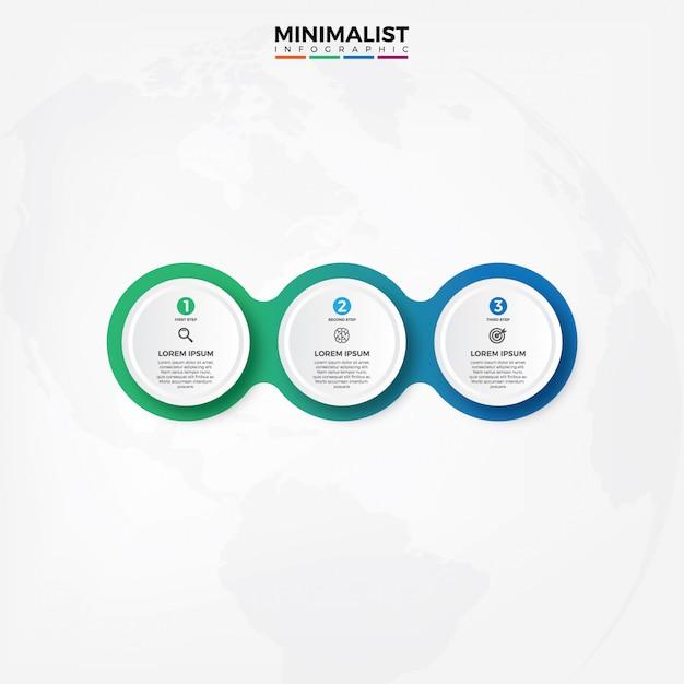 Modello di progettazione etichetta vettoriale infografica Vettore Premium