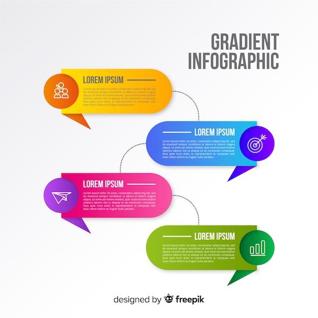 Modello di progettazione infografica colorato Vettore gratuito