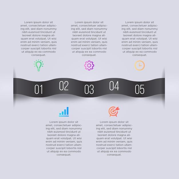 Modello di progettazione infografica di affari Vettore Premium