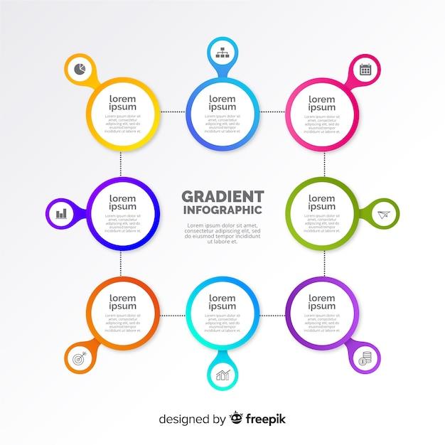 Modello di progettazione infografica piatta Vettore gratuito