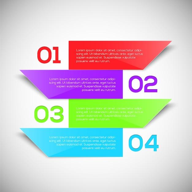 Modello di progettazione infografica Vettore Premium