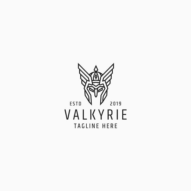 Modello di progettazione logo valkyrie Vettore Premium
