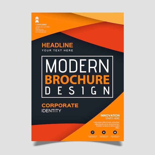 Modello di progettazione moderna opuscolo creativo Vettore Premium