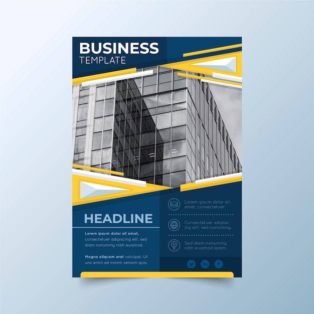 Modello di progettazione per le imprese Vettore gratuito