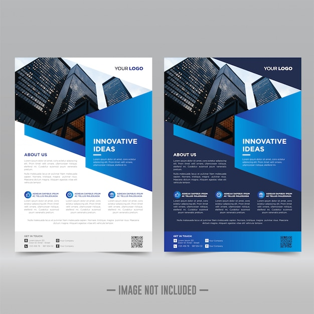 Modello di progettazione volantino corporativo Vettore Premium