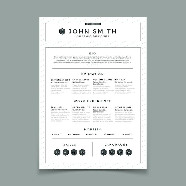 Modello di progettazione web e stampa aziendale con esperienza di lavoro personale Vettore Premium