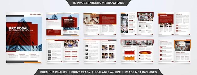 Modello di proposta commerciale minimalista Vettore Premium