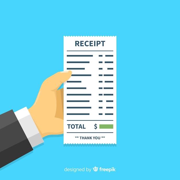 Modello di ricevuta di pagamento con design piatto Vettore gratuito