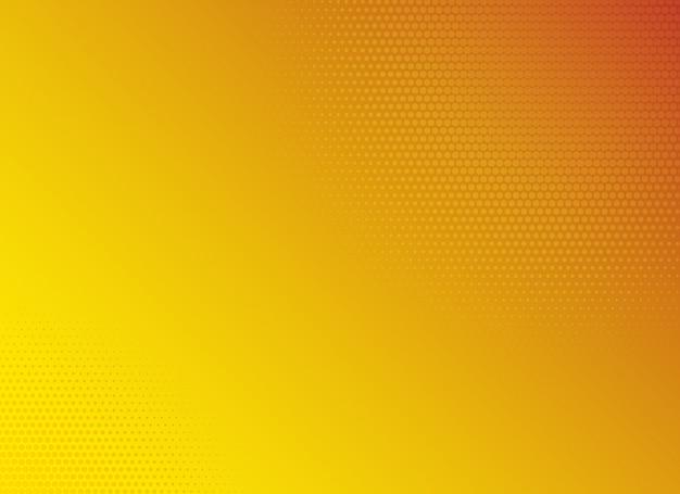 Modello di semitono sfondo sfumato giallo Vettore Premium