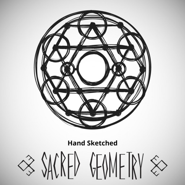 Modello di sfondo astratto con il disegno geometria sacra Vettore gratuito