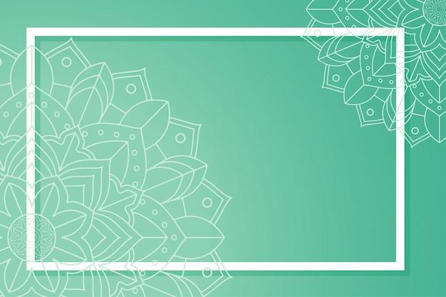 Modello di sfondo con disegni di mandala Vettore gratuito
