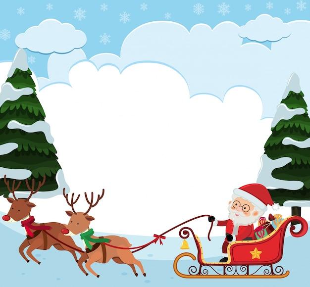 Foto Slitta Di Babbo Natale.Modello Di Sfondo Con La Slitta Di Babbo Natale Scaricare