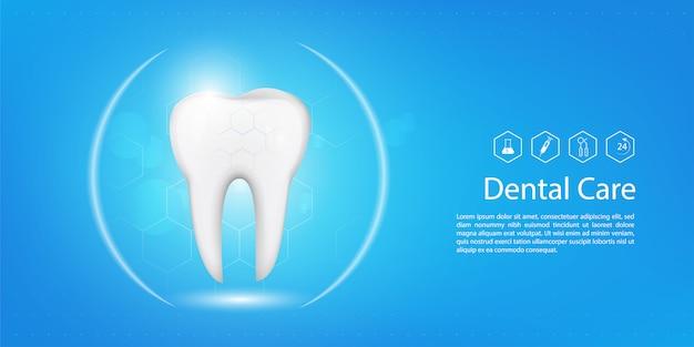 Modello di sfondo dentale Vettore Premium
